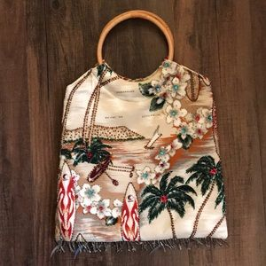Multicolored, sequined, and beaded purse